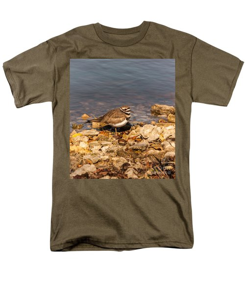 Kildeer On The Rocks Men's T-Shirt  (Regular Fit) by Robert Frederick
