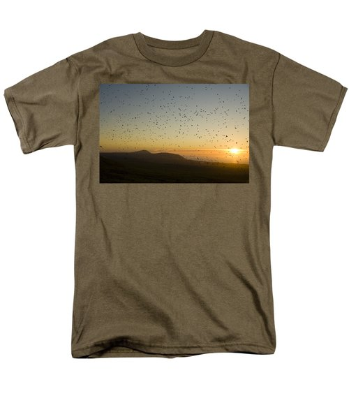 Least Auklets, Returning To Their Nest Men's T-Shirt  (Regular Fit) by Brian Guzzetti