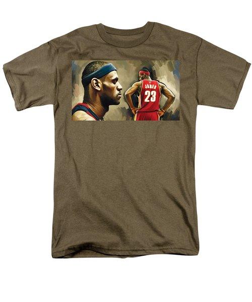 Lebron James Artwork 1 Men's T-Shirt  (Regular Fit) by Sheraz A