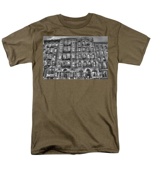 Led Zeppelin Physical Graffiti Building In Black And White Men's T-Shirt  (Regular Fit) by Randy Aveille