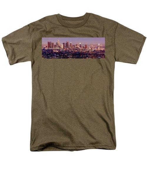 Los Angeles Skyline At Dusk Men's T-Shirt  (Regular Fit) by Jon Holiday
