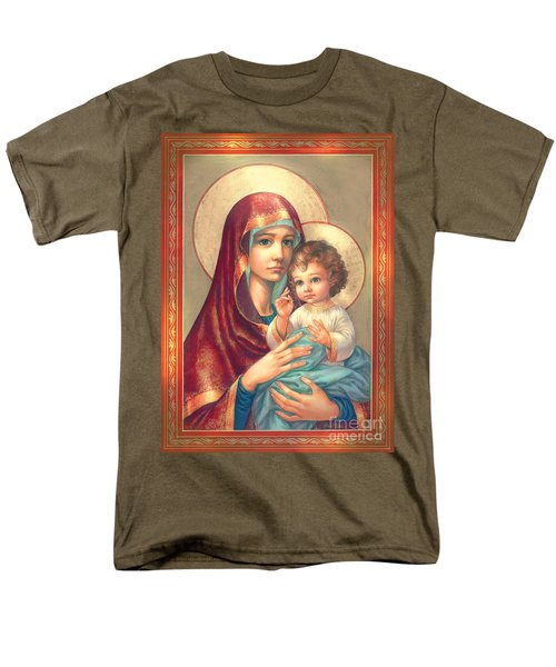 Madonna and Sitting Baby Jesus T-Shirt by Zorina Baldescu