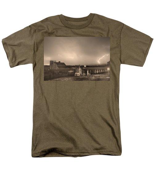 McIntosh Farm Lightning Thunderstorm View Sepia T-Shirt by James BO  Insogna