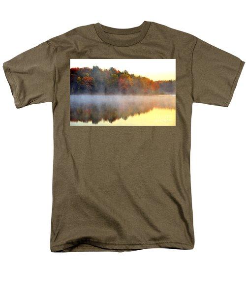 Misty Morning at Stoneledge Lake T-Shirt by Terri Gostola