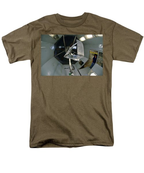 Men's T-Shirt  (Regular Fit) featuring the photograph Model Airplane In Wind Tunnel by Science Source
