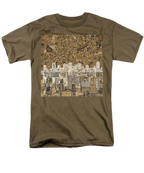 Nashville Skyline Abstract 2 Men's T-Shirt  (Regular Fit) by Bekim Art
