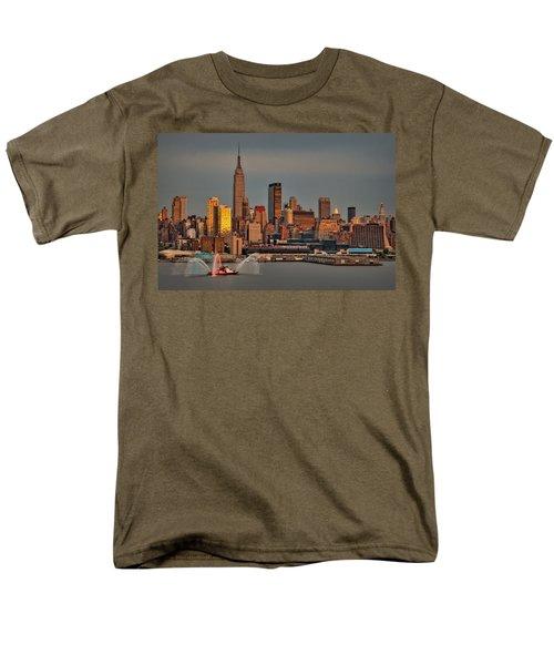 New York City Sundown on the 4th T-Shirt by Susan Candelario