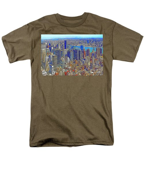 New York Skyline 20130430v3 T-Shirt by Wingsdomain Art and Photography