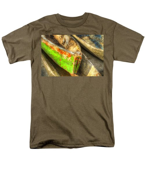 Old Dug-out Canoes T-Shirt by Debra and Dave Vanderlaan