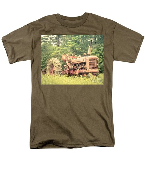 Old Farmall Tractor at Sunrise T-Shirt by Edward Fielding