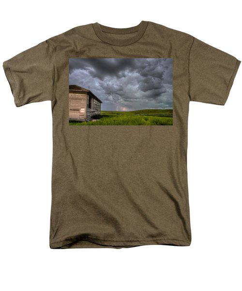 Old School House and Lightning T-Shirt by Mark Duffy