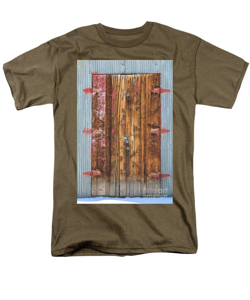 Old Wood Door With Six Red Hinges T-Shirt by James BO  Insogna