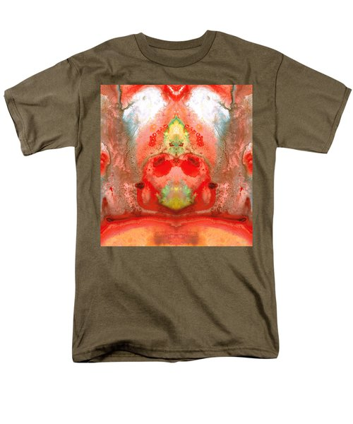 Om - Red Meditation - Abstract Art By Sharon Cummings T-Shirt by Sharon Cummings