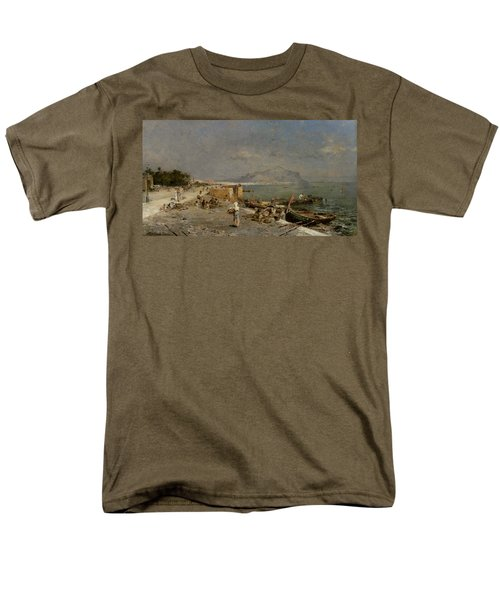 On The Waterfront at Palermo T-Shirt by Franz Richard Unterberger