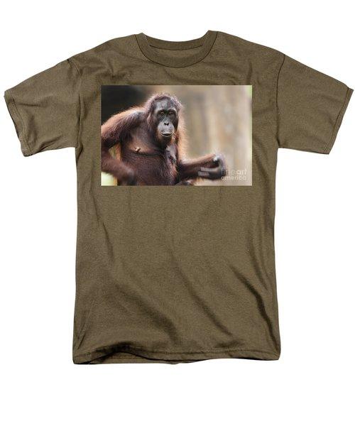 Orangutan Men's T-Shirt  (Regular Fit) by Richard Garvey-Williams