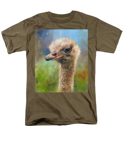 Ostrich Men's T-Shirt  (Regular Fit) by David Stribbling