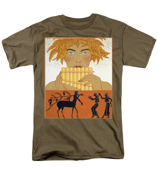 Pan Piper Men's T-Shirt  (Regular Fit) by Georges Barbier
