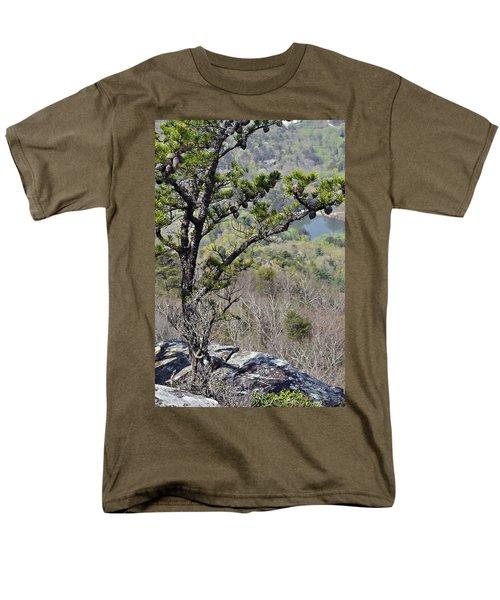 Pine Tree on a Mountain T-Shirt by Susan Leggett