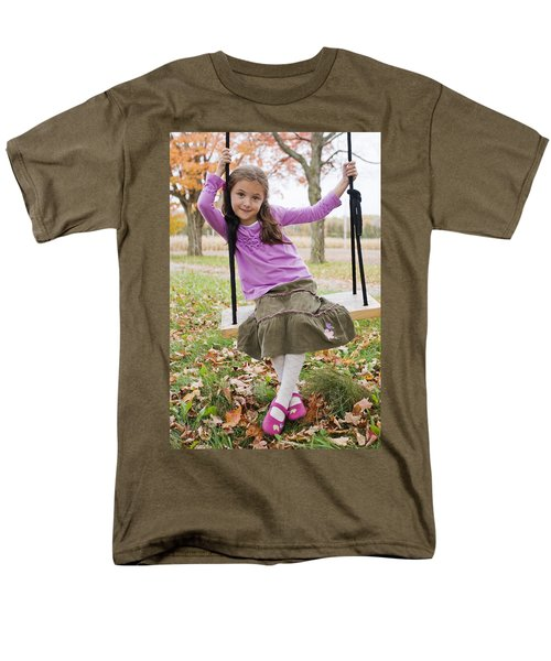 Portrait Of Young Girl On Swing T-Shirt by Vast Photography