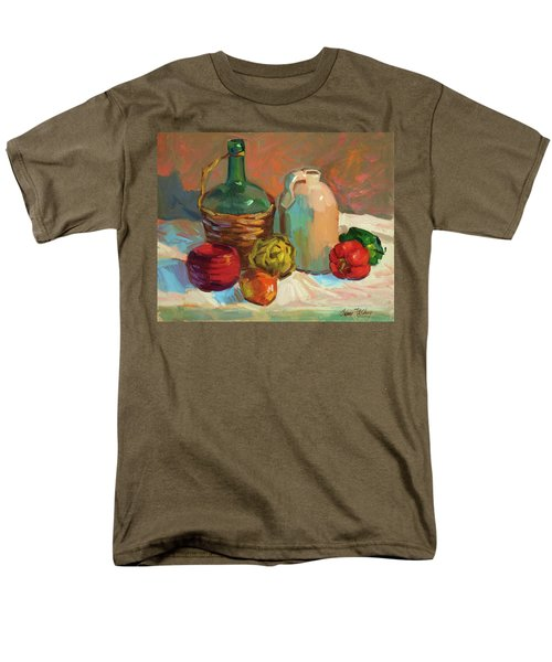 Pottery And Vegetables Men's T-Shirt  (Regular Fit) by Diane McClary
