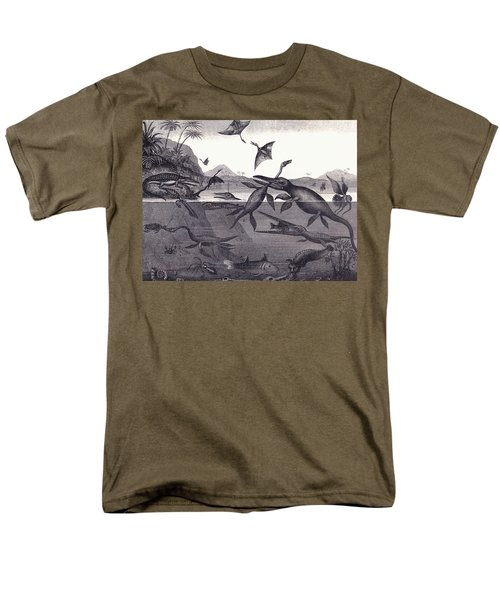 Prehistoric Animals Of The Lias Group Men's T-Shirt  (Regular Fit) by English School
