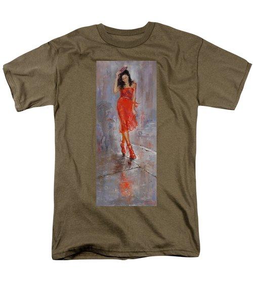 Rain in Manhattan T-Shirt by Ylli Haruni