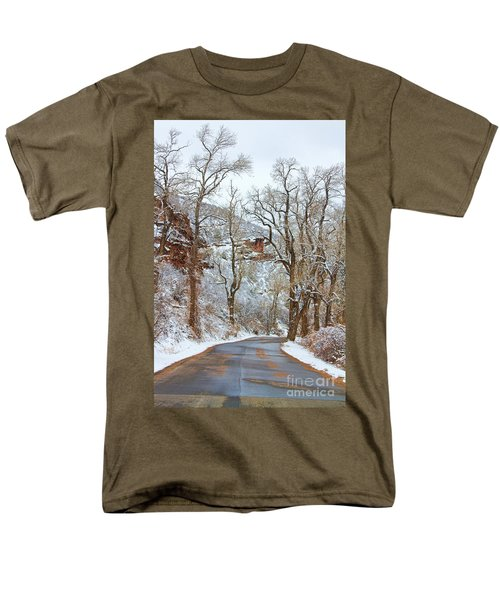 Red Rock Winter Road Portrait T-Shirt by James BO  Insogna