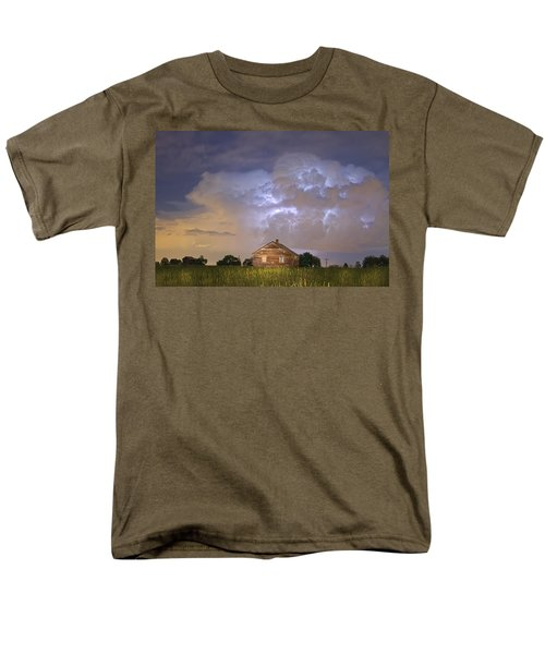 Rural Country Cabin Lightning Storm T-Shirt by James BO  Insogna