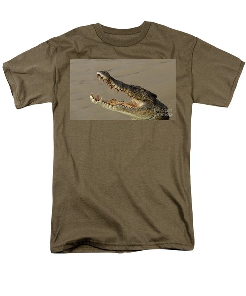 Salt Water Crocodile 1 Men's T-Shirt  (Regular Fit) by Bob Christopher