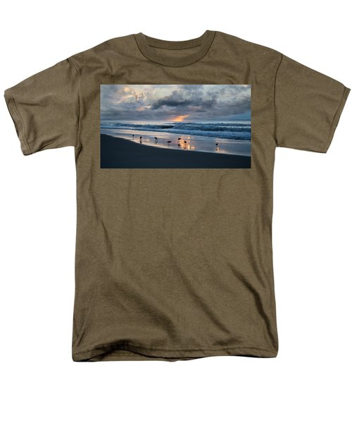 Sandpipers In Paradise Men's T-Shirt  (Regular Fit) by Betsy Knapp