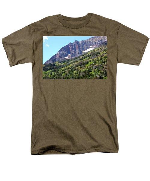 Sloping Mountain at Two Medicine Lake T-Shirt by Carol Groenen