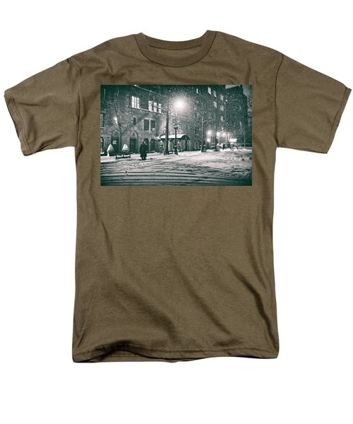 Snowy Winter Night - Sutton Place - New York City T-Shirt by Vivienne Gucwa