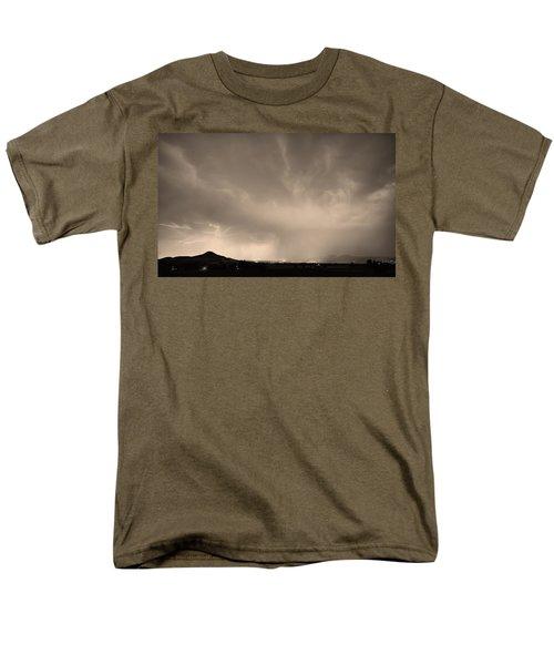 Spider Lightning Above Haystack Boulder Colorado Sepia T-Shirt by James BO  Insogna