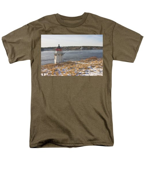 Squirrel Point Lighthouse Kennebec River Maine T-Shirt by Keith Webber Jr