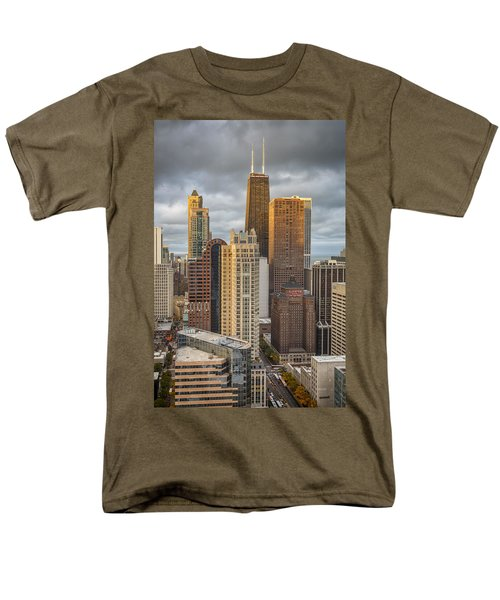 Streeterville From Above Men's T-Shirt  (Regular Fit) by Adam Romanowicz