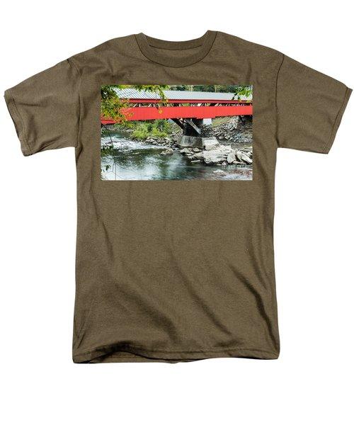 Taftsville Covered Bridge Vermont T-Shirt by Edward Fielding