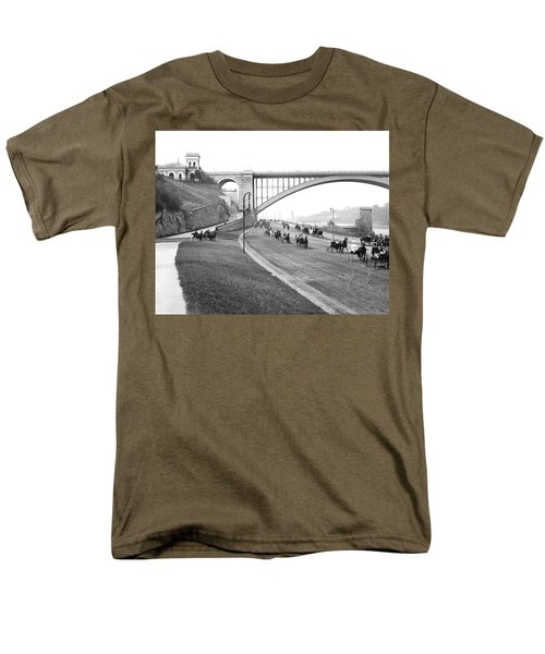 The Harlem River Speedway Men's T-Shirt  (Regular Fit) by Detroit Publishing Company
