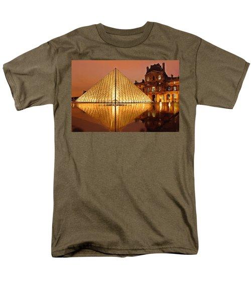 The Louvre By Night Men's T-Shirt  (Regular Fit) by Ayse Deniz