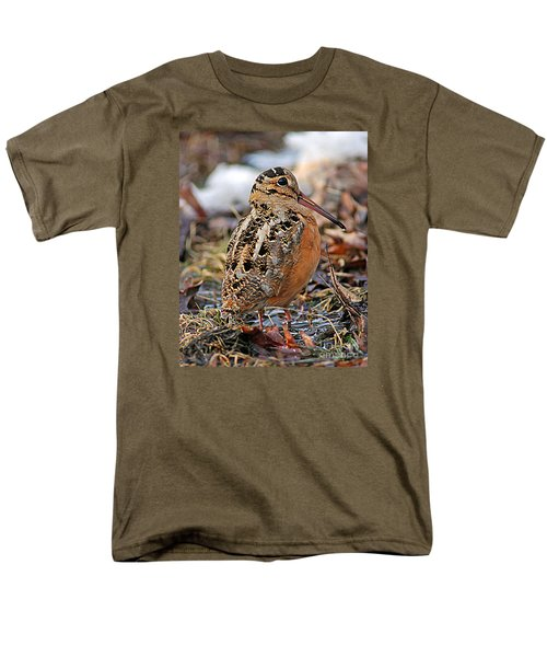 Timberdoodle The American Woodcock Men's T-Shirt  (Regular Fit) by Timothy Flanigan