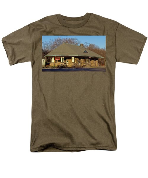 Train Stations And Libraries Men's T-Shirt  (Regular Fit) by Skip Willits
