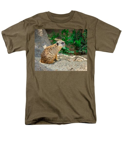Watchful Meerkat Men's T-Shirt  (Regular Fit) by Jon Woodhams