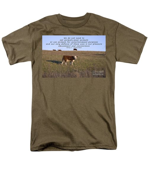 We Do Not Need To Eat Animals T-Shirt by Janice Rae Pariza