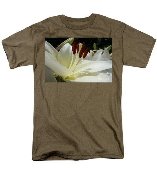 White Asiatic Lily Men's T-Shirt  (Regular Fit) by Jacqueline Athmann