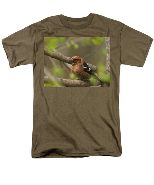 White-winged Crossbill Men's T-Shirt  (Regular Fit) by James Peterson