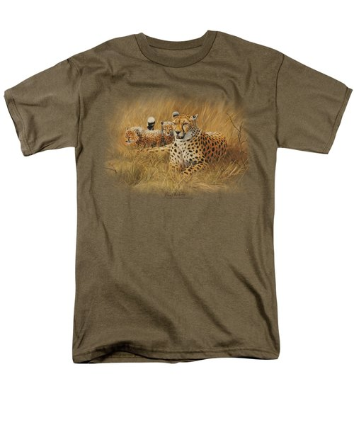 Wildlife - Cheetah Family Men's T-Shirt  (Regular Fit) by Brand A
