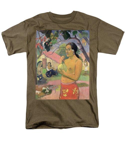 Woman With Mango Men's T-Shirt  (Regular Fit) by Paul Gauguin