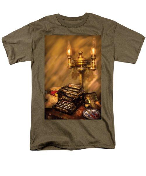 Writer - Remington Typewriter T-Shirt by Mike Savad