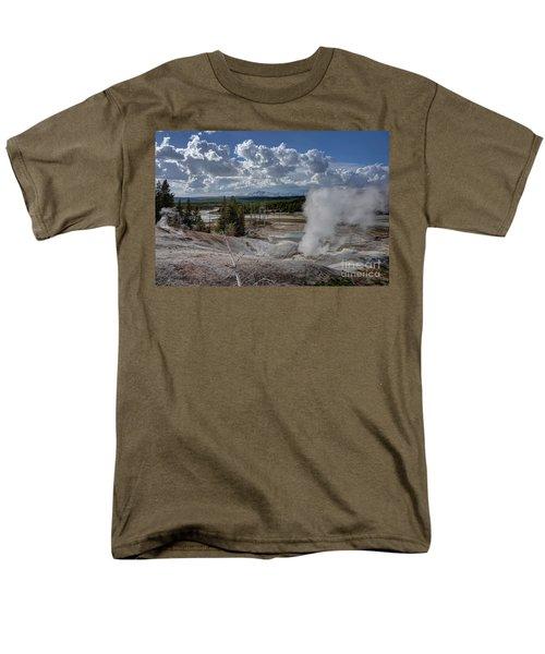 Men's T-Shirt  (Regular Fit) featuring the photograph Yellowstone's Norris Geyser Basin by Bill Gabbert