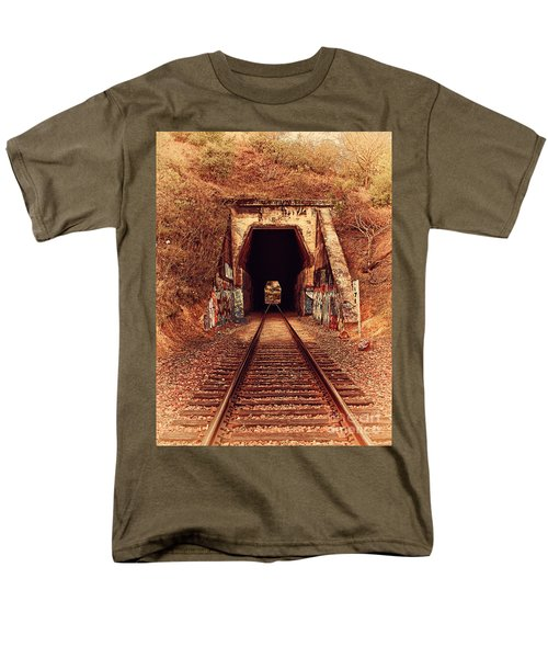 Train Tunnel At The Muir Trestle in Martinez California . 7D10220 T-Shirt by Wingsdomain Art and Photography
