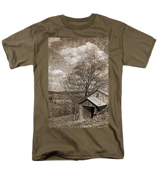 Rustic Hillside Barn T-Shirt by John Stephens